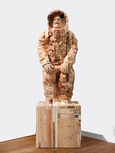 <center>Matthew Day Jackson, (1974) <br><em>Lumpenproletariat (Alive)</em>, 2010 <br>Wood and plastic</center>