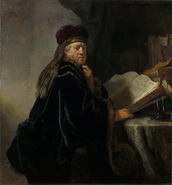 Scholar in his study by Rembrandt - 1635