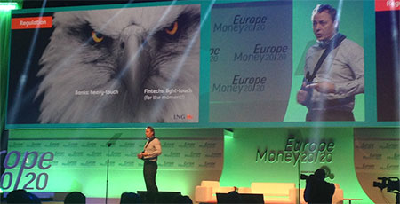Fintech: Friend or Foe of the Banks? Ralph Hamers delivering his keynote speech at Money 20/20 in April in Copenhagen.