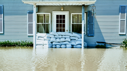 Physical climate risk can be 'event-driven', such as floods caused by extreme weather.
