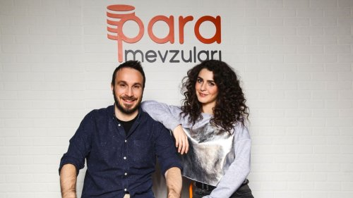 Uras Benlioğlu (left) and Dilara Güneş are two of the presenters of Money Matters.