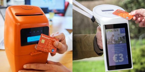 Old versus new: Development of a 3D-printed contactless donation box has come a long way since its first mock-up in March 2016.