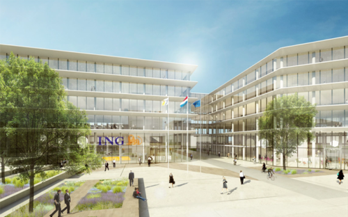 Impression of the ING headoffice in 2009