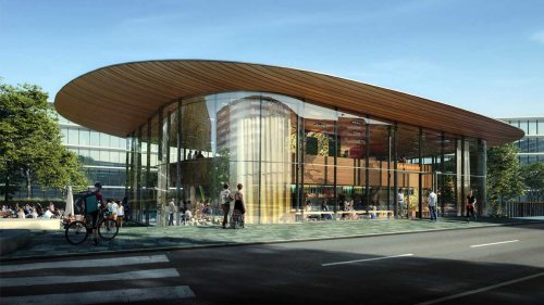Artist's impression of the new campus restaurant The Traveller designed by Powerhouse Company.
