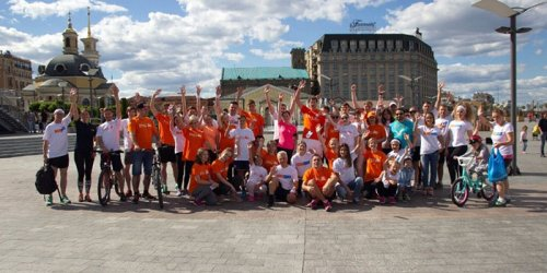 ING Run for Youth participants in Ukraine.
