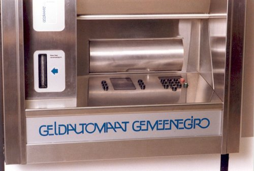 Gemeentegiro cash machine (1976). </br>Image from Historical Archive ING.
