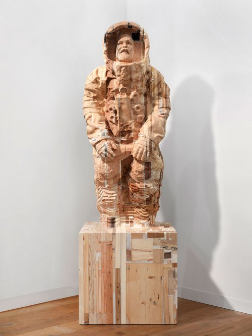 Matthew Day Jackson (1974) <br><em>Lumpenproletariat (Alive)</em>, 2010 <br>244 x 74 x 74 cm <br>Wood and plastic