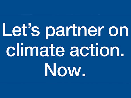 Let's partner on climate action. Now! #ClimateCEOs