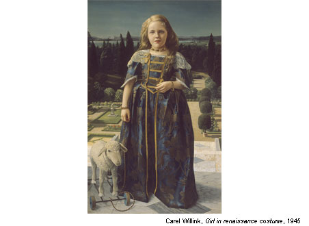 The Magic of Dutch Realism - Carel Wilink - Girl in Renaissance Costume