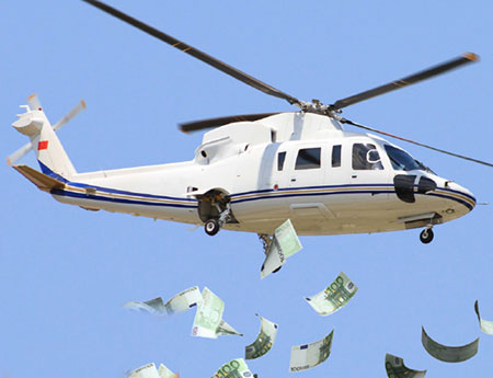 Helicopter money: will cash from the sky boost Europe's economy?