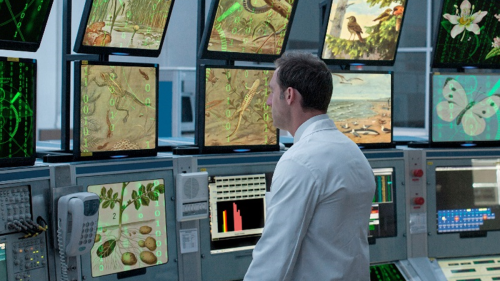 An artist's impression of the Milgro control room.