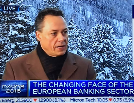 Ralph Hamers talking about trends in banking sector at CNBC in Davos