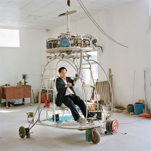 Xiaoxiao Xu (1984) <br><em>DouSan No. 5  (from the Series: Aeronautics In The Backyard)</em>, 2015 <br>100 x 100 cm <br>UltraChrome prints, Epson glossy with satin finish on Dibond