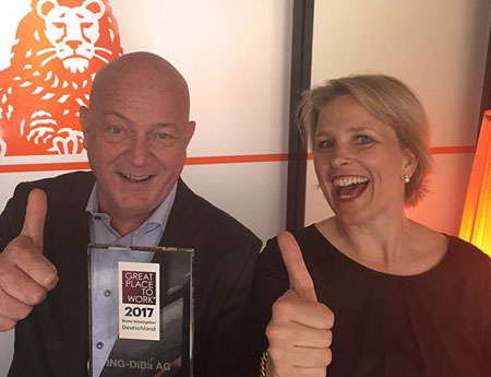 ING again recognised as Top Employer and Great Place to Work