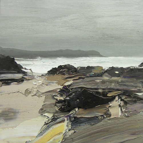 <center>Surge Tide, Saligo Bay, (2016) Mixed Media by Chris Bushe (1958)</center>