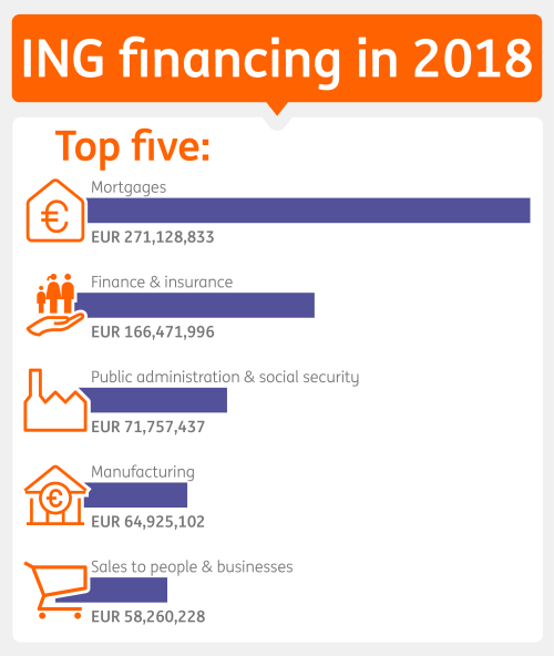 Table ING financing in 2018