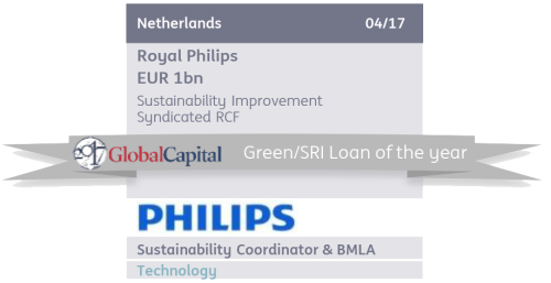Philips in 2017 signed a €1 billion syndicated loan where the interest rate is coupled to the company's sustainability rating. ING acted as sustainability coordinator. For these types of loans to develop, it is crucial that external ratings are as accurate and credible as possible.