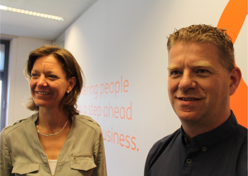 """We want to give people choice."" - Programme lead Elles Ogink with Theo Frieswijk."